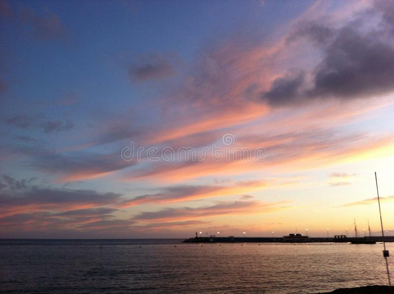 Sunset in Tenerife Spain royalty free stock photo