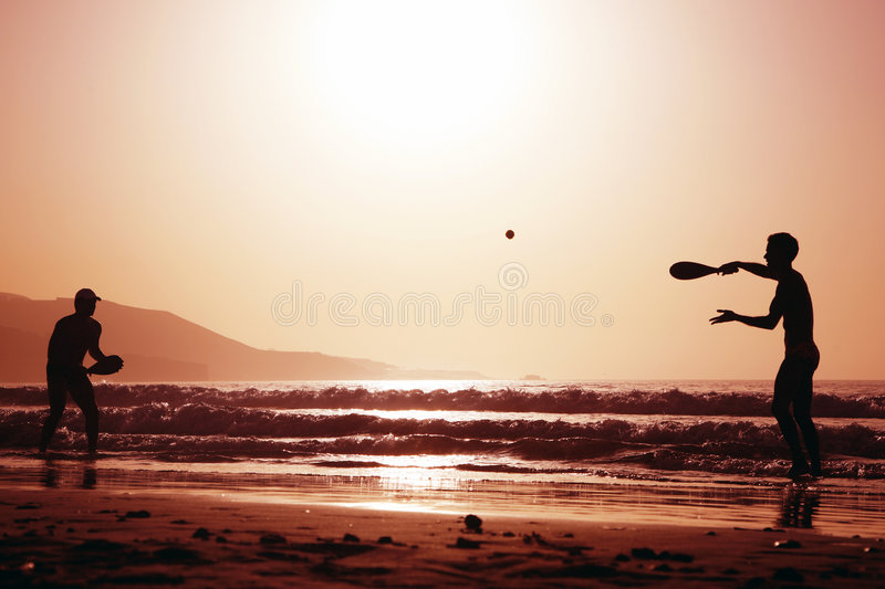 Sunset Tennis royalty free stock images