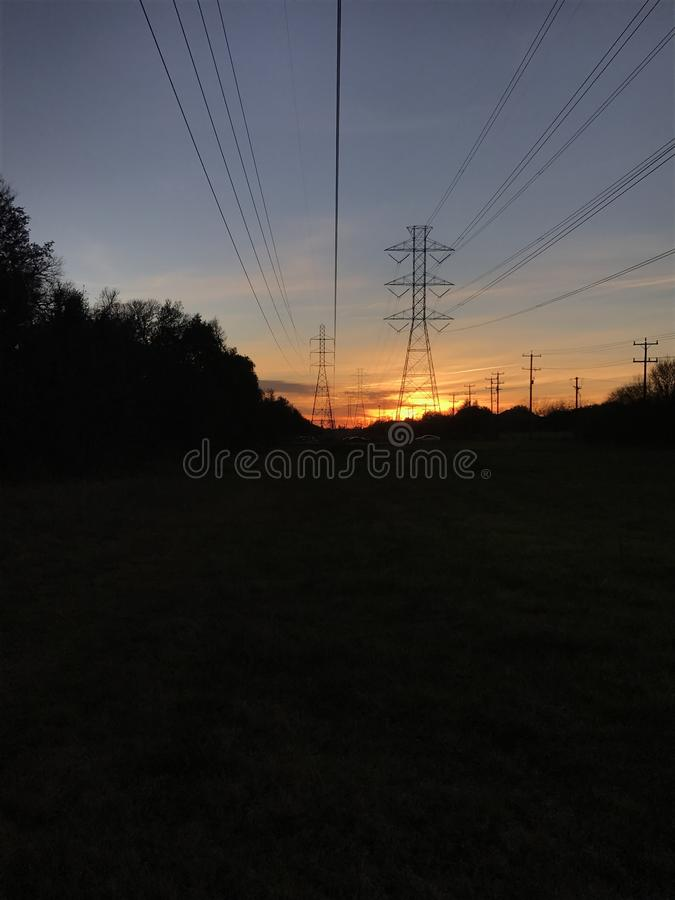 Sunset in Texas stock images