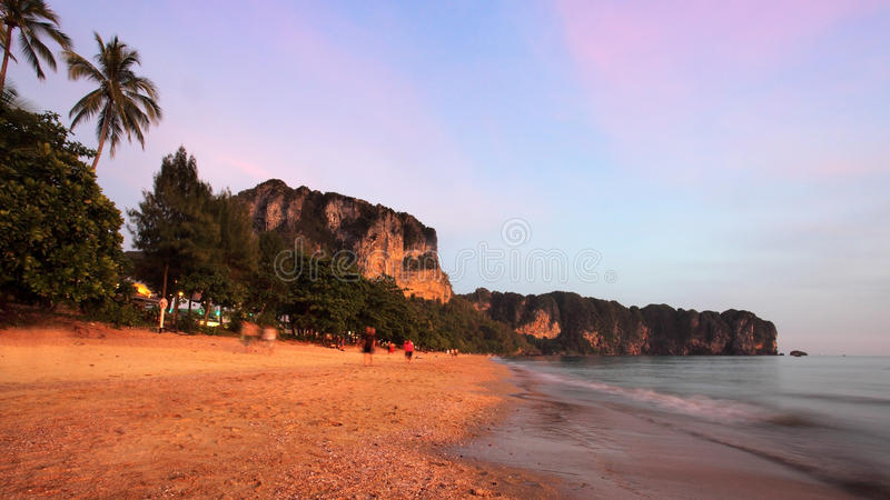 Sunset in Thailand royalty free stock photos