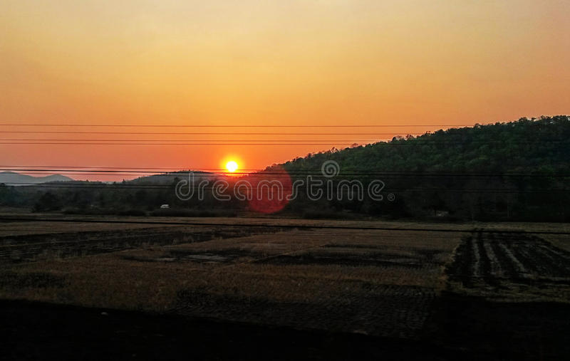 Sunset in Thailand royalty free stock images