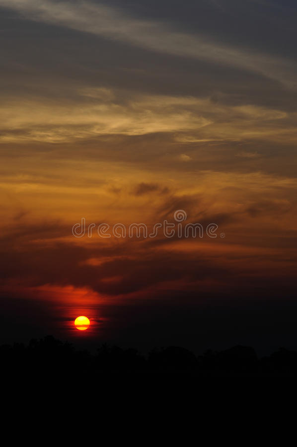 Sunset thailand. royalty free stock photography