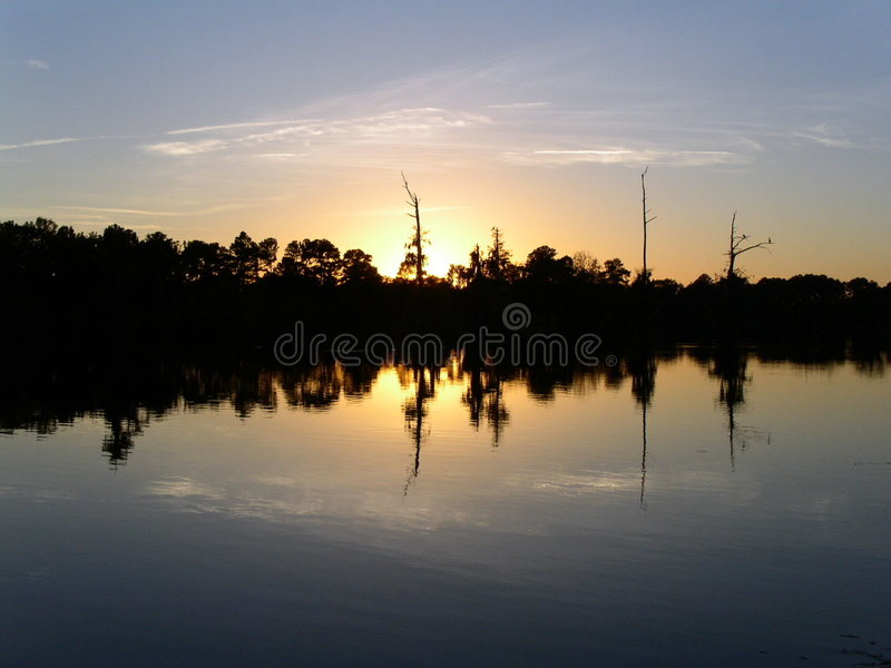 Download Sunset Time stock photo. Image of birds, reflections, lake - 4222