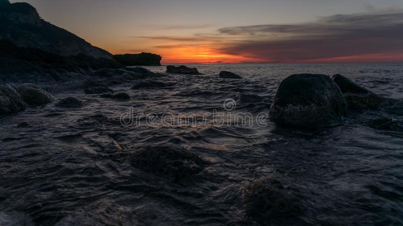 Sunset time royalty free stock photography