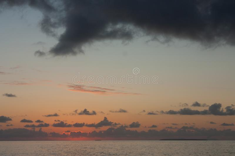 After the sunset in Tonga royalty free stock photo