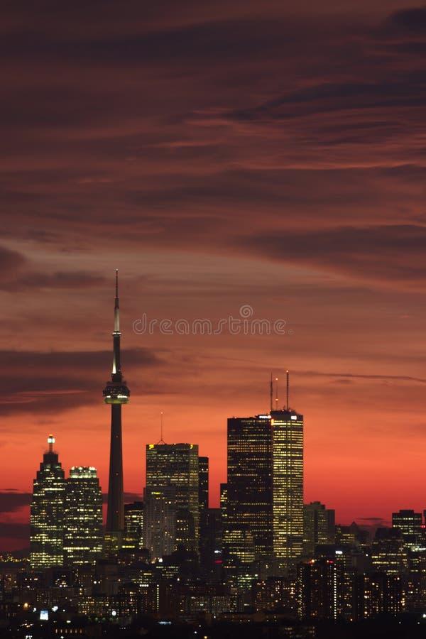 Sunset toronto stock image