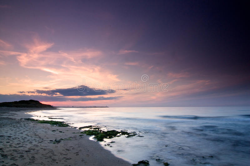 Download Sunset in Torre Canne stock image. Image of beach, sand - 40048915