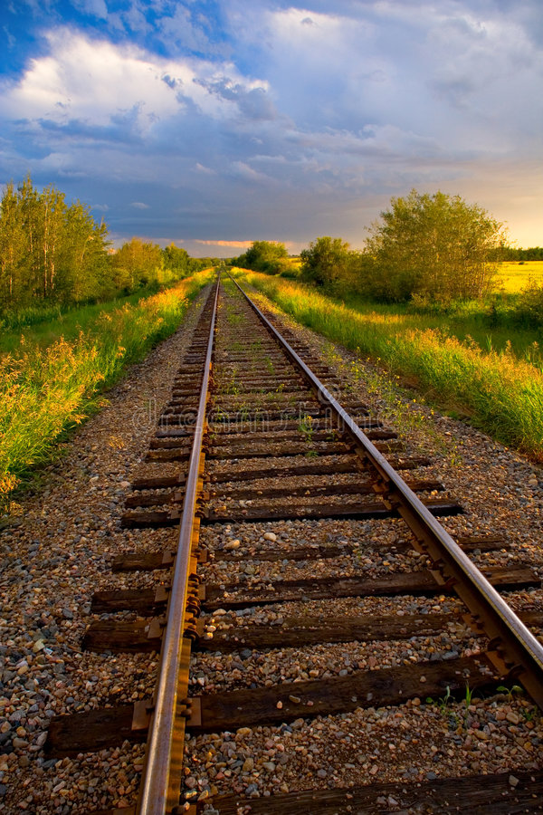 Free Sunset Tracks Royalty Free Stock Photography - 502197