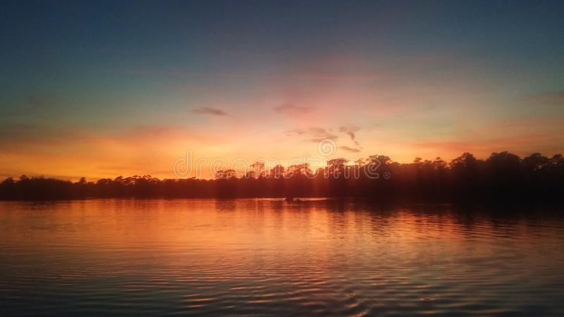 Sunset tranquility& x27;s royalty free stock photo