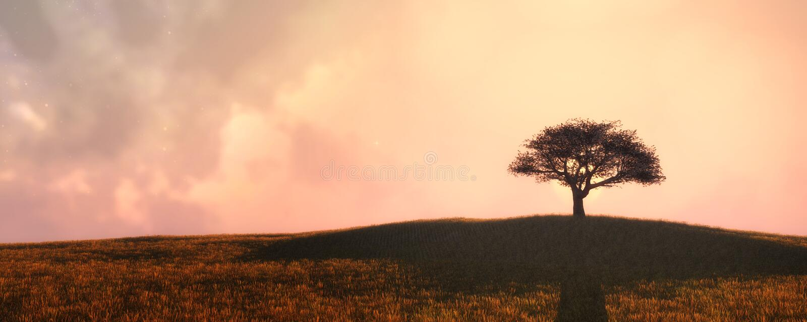 Lonely Sunset Silhouette Stock Illustrations – 561 Lonely ...