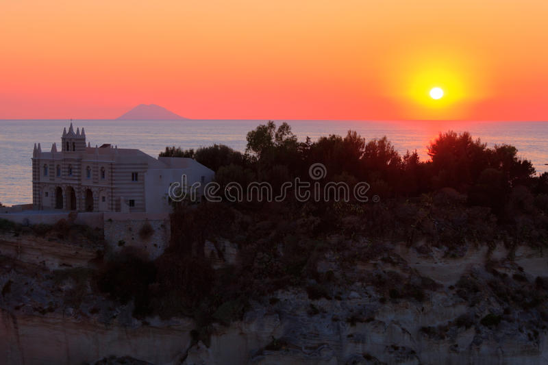 Download Sunset in Tropea stock image. Image of classic, landscape - 26193239