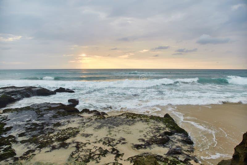 Sunset on the tropical beach. Dreamland beach. royalty free stock image