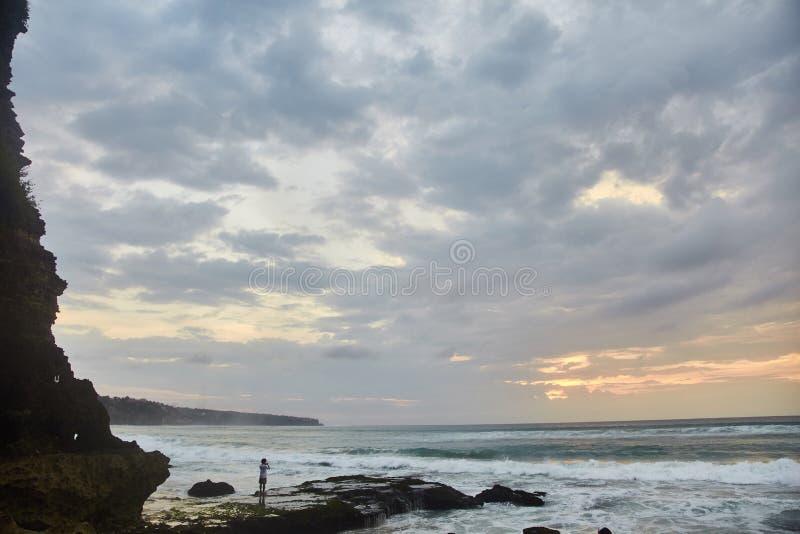 Sunset on the tropical beach. Dreamland beach. stock image