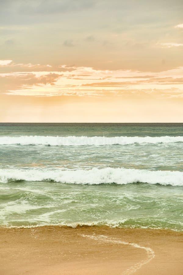 Sunset on the tropical beach. Dreamland beach. stock photo