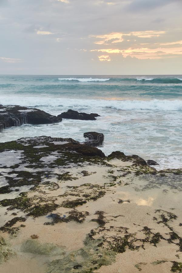 Sunset on the tropical beach. Dreamland beach. royalty free stock photography