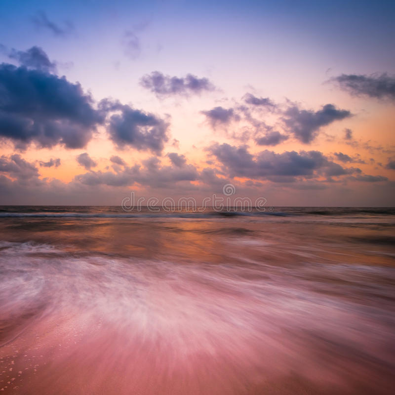 Sunset At Tropical Beach Stock Image. Image Of Season
