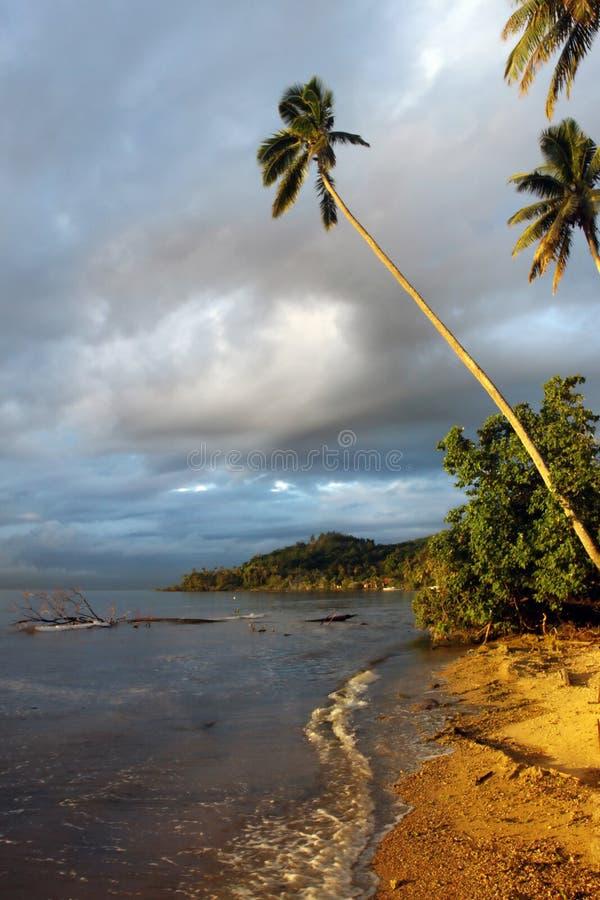 Sunset On Tropical Island Royalty Free Stock Photo