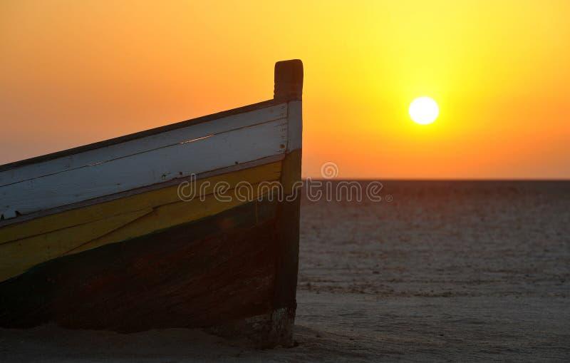 Sunset in Tunisia royalty free stock photo