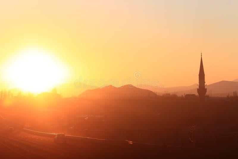 Sunset in turkey stock image