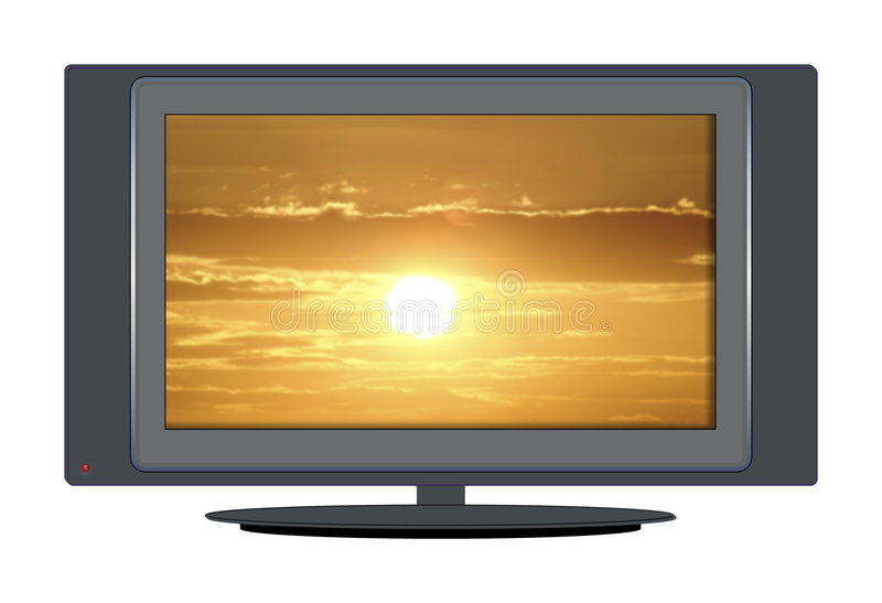 sunset tv zdjęcia stock