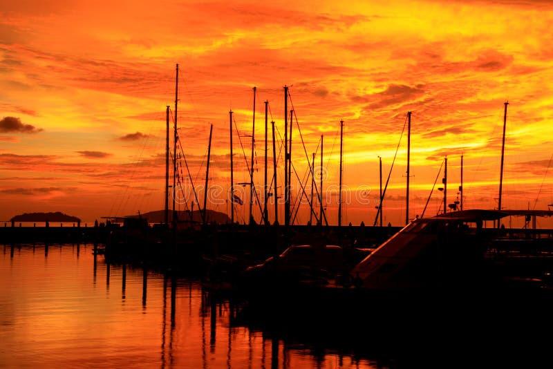 Download Sunset, Twilight Zone Over Marina Stock Photo - Image: 21342660