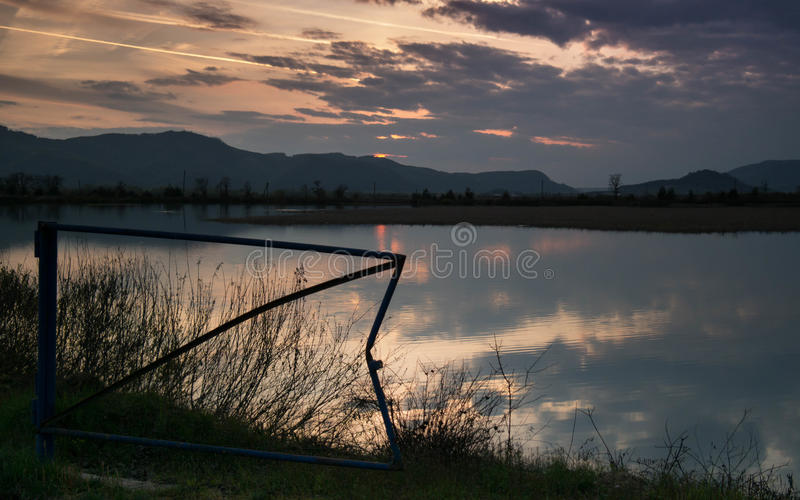 Sunset in Ukraine royalty free stock image
