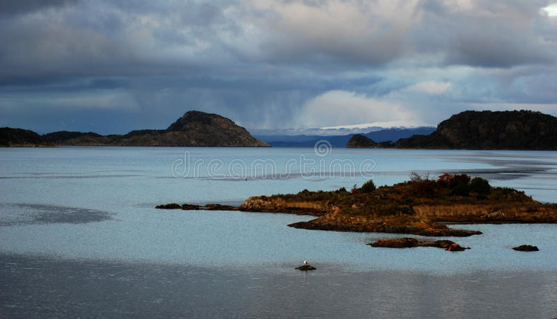 Download Sunset in Ushuaia stock photo. Image of sunset, lake - 11163250