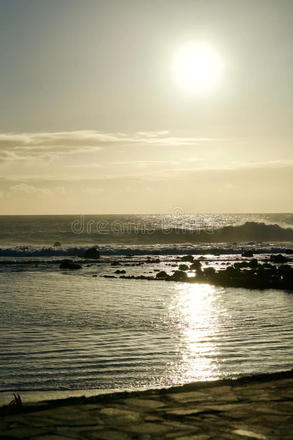 Sunset. At Valle Gran Rey, La Gomera stock photos