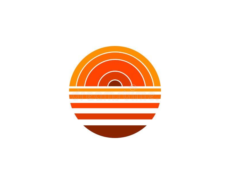 Sunset vector logo icon design template element. Sunset logo royalty free illustration