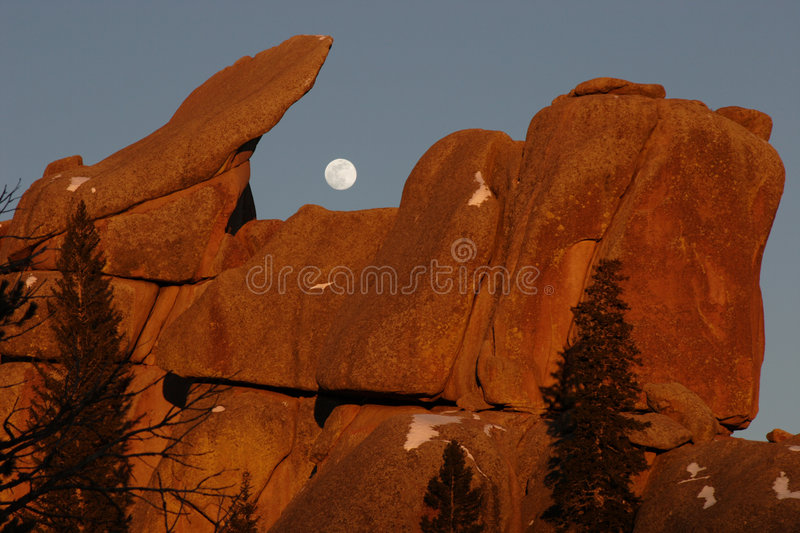 Download Sunset, Vedauwoo, #4a stock image. Image of gibbous, evening - 521157