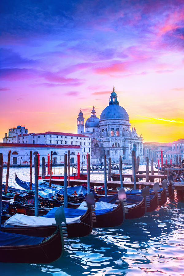 Sunset in Venice. View of Grand Canal in Venice, Italy