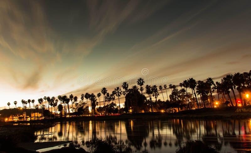 Sunset in Santa Barbara royalty free stock image