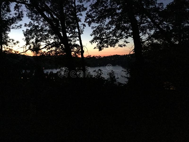Sunset View Above the Lake royalty free stock photo