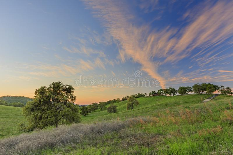 Sunset view of beautiful country side near Sonora royalty free stock images
