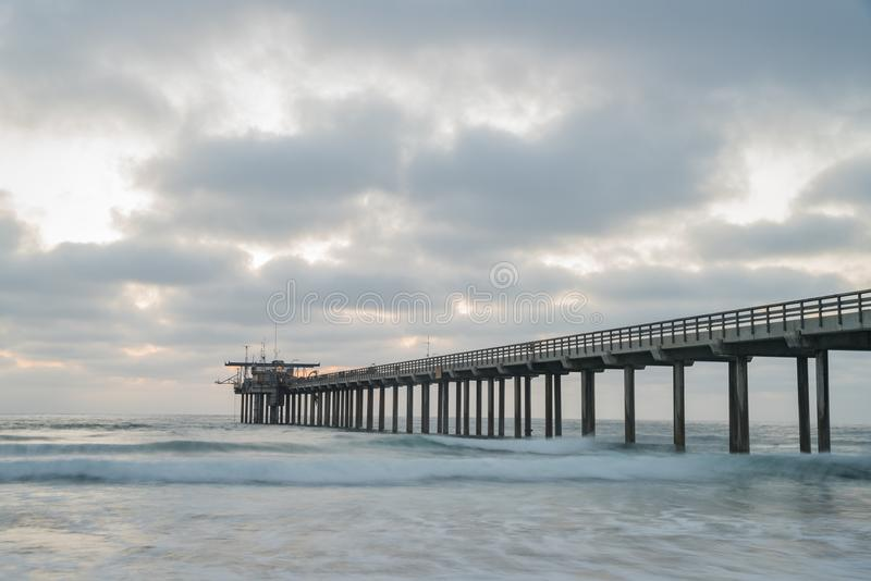 sunset view of the beautiful Ellen Browning Scripps Memorial Pie royalty free stock image