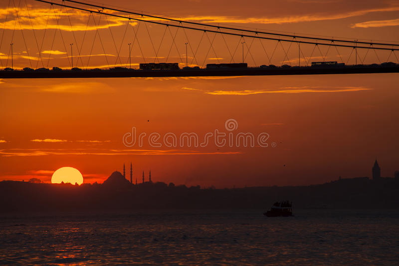 Download Sunset View From Cengelkoy To Istanbul Stock Photo - Image: 35834762