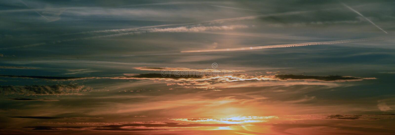 Sunset View of a Clouds stock photo