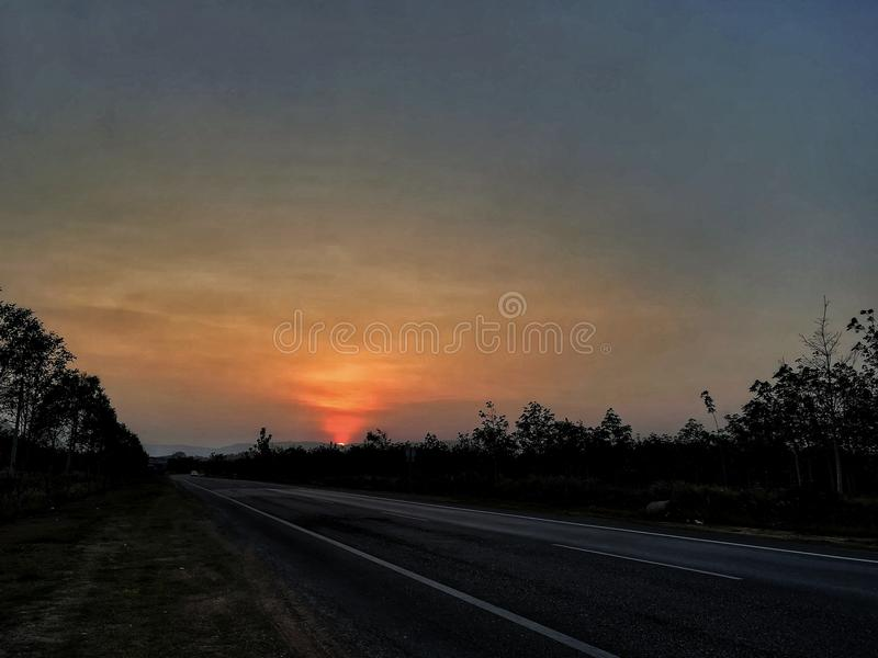 sunset view royalty free stock photography