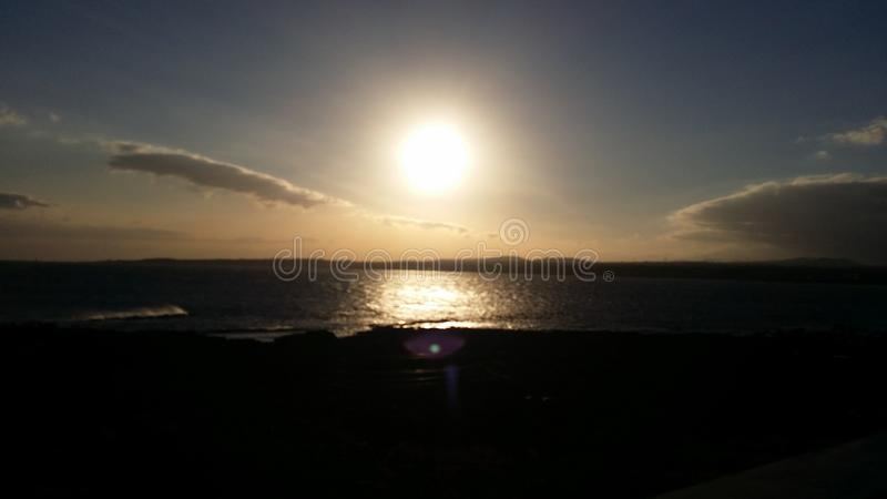 Sunset view royalty free stock photo