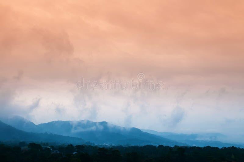 Sunset view of Nara city, Japan. In autumn season stock images