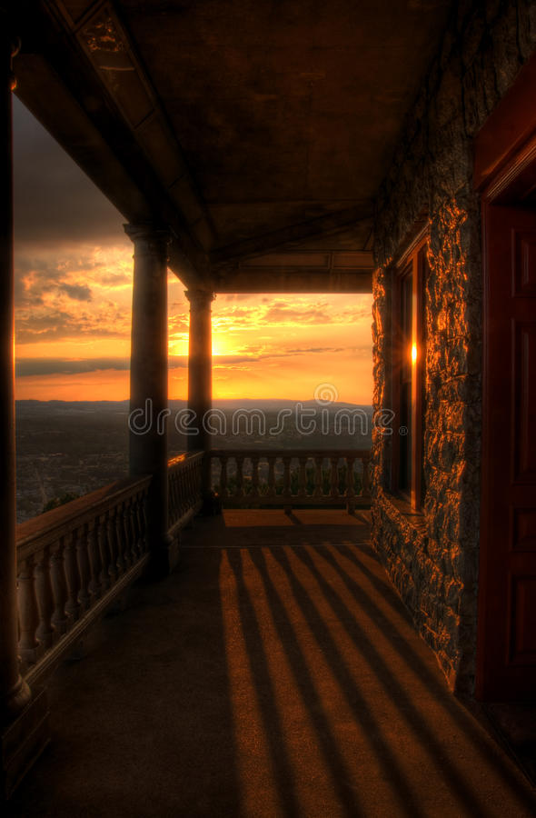 Sunset View From Pagoda Porch stock images