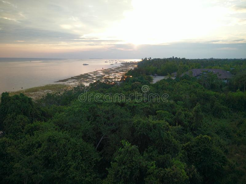 Sunset View in Panglao Island in Bohol, Philippines royalty free stock photography