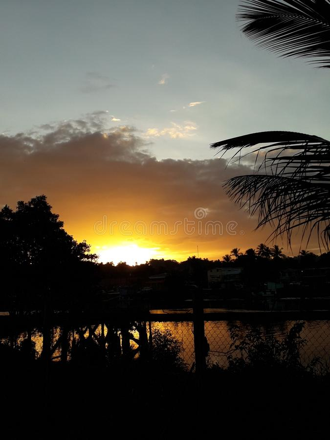 Sunset view royalty free stock photos
