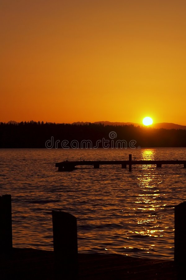 Sunset View (portrait) royalty free stock image