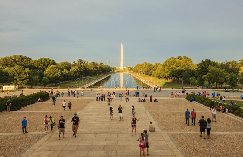Download Sunset View To The National World War II Memorial In Washington DC Editorial Photo - Image of died, district: 46338836