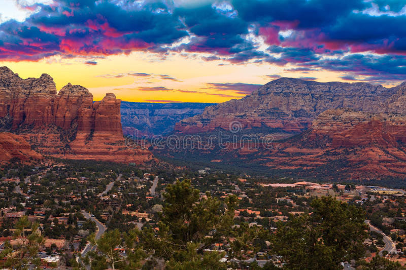 Download Sunset Vista Of Sedona, Arizona Stock Photography - Image: 34285862