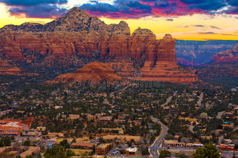 Sunset Vista of Sedona, Arizona. Nice Sunset Image of Sedona; Arizona royalty free stock image