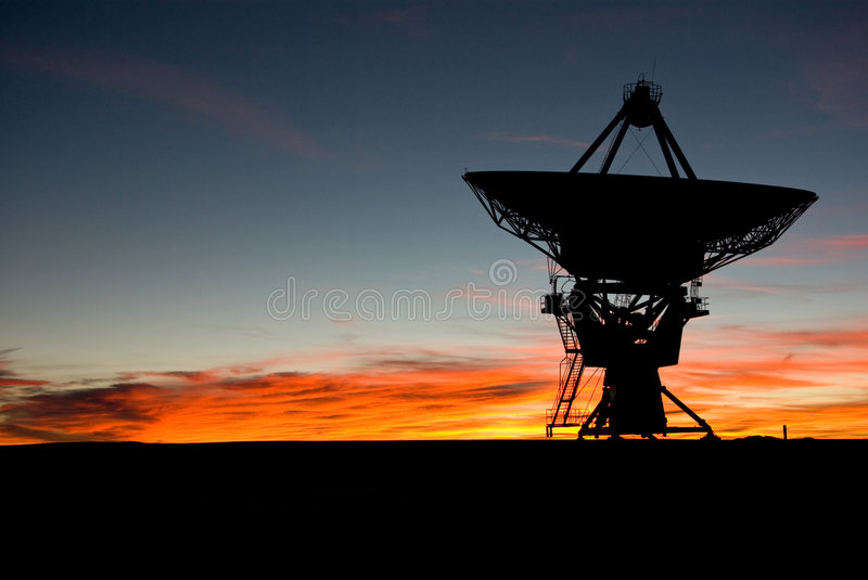 Sunset at VLA New Mexico 3 royalty free stock images