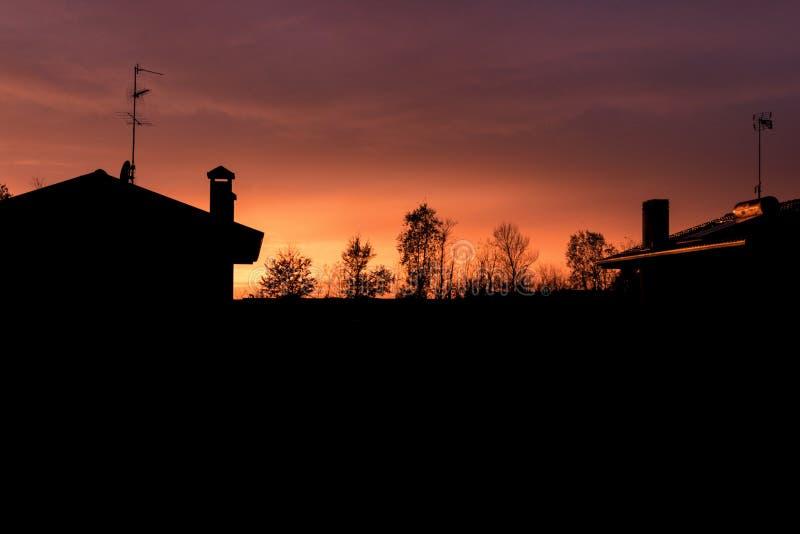sunset włochy obrazy stock