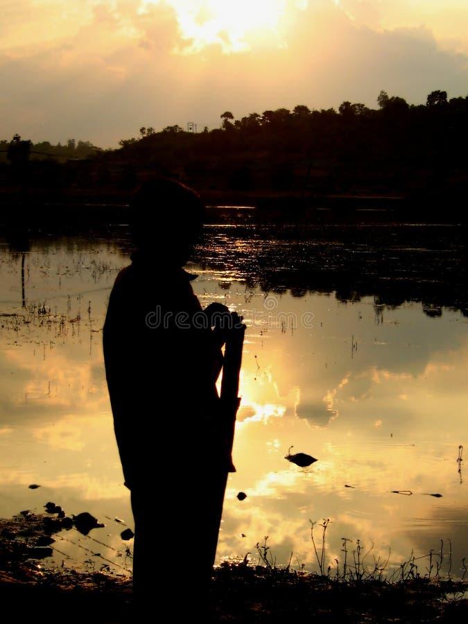 Download Sunset Wait stock photo. Image of evening, dusk, boys - 1585596
